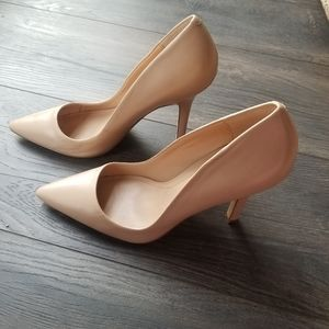 Charles by Charles David Nude Leather Pointed Pump